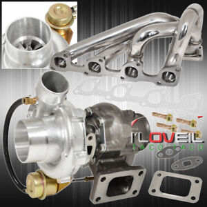 89 93 Volvo 740 2 3l Stainless Steel Manifold Jdm T3 T4 Turbo Charge Turbine