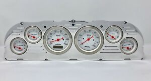 1960 1961 1962 1963 Chevy Truck 6 Gauge Dash Cluster White