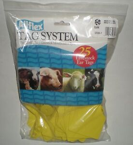Allflex Tag Blank Maxi Male Yellow Gxf gsm y Livestock Identification 25 package