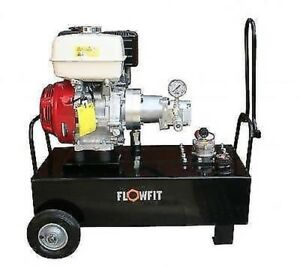 Hydraulic Power Unit Portable 19 5 L min 2900 Psi 9 5 Hp Honda Petrol Engine