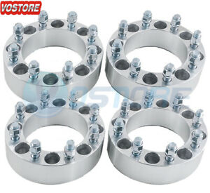 4 2 8 Lug Black Wheel Spacers 8x6 5 For Dodge Ram 2500 3500 Ford 9 16 Studs