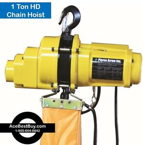 Pierce Arrow 1 Ton Electric Chain Hoist 120v Heavy Duty