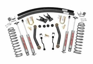 Rough Country 4 5 Suspension Lift Kit Jeep Cherokee Xj 4wd 623n2