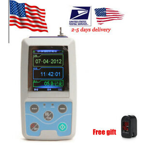 Fda Ambulatory Blood Pressure Holter 24h Pr Monitoring Oximeter Abpm Us Seller