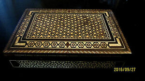 Old Ottoman Mosaic Marqueterie Wood Trinket Music Box