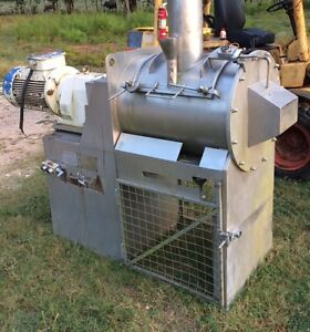 5 Cubic Foot Stainless Steel Paddle Plow Food Grade Process Mixer
