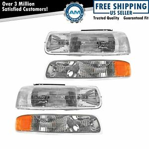 Headlight Corner Parking Light Left Right Set Kit For Chevy Truck Suburban