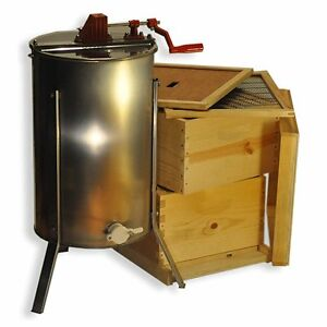 Double Deep Brood Box Beginners Beehive Kit 2 Frame Honey Extractor Gle2stack