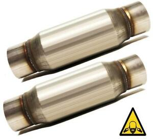 Two 3 Straight Universal Glass Pack Muffler Resonator Coltexhaust