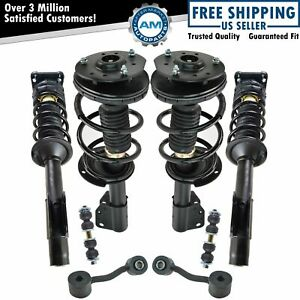 Front Rear Strut Spring Assemblies Sway Bar Links Set Of 8 For Chevy Pontiac