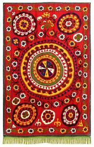 Vintage Handmade Embroidery Uzbek Suzani Bed Cover Wall Hanging A8685