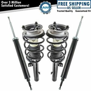 Front Complete Loaded Strut Spring Assembly Rear Shock Absorber Kit Set 4pc Rwd