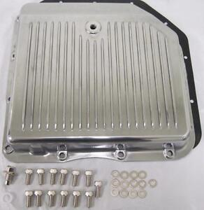 Gm Turbo 350 Polished Aluminum Transmission Pan Kit Tranny Chevy Pontiac Th350