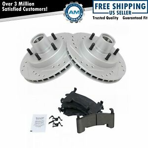 Nakamoto Performance Brake Rotor Drilled Slotted Coated Ceramic Pad Front Kit