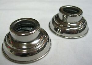 1938 1947 Ford Pickup Truck Door Window Escutcheons Stainless Pair