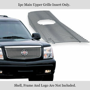 For 2002 2006 Cadillac Escalade Stainless Vertical Billet Main Upper Grille