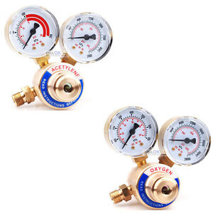 Acetylene Oxygen Regulator Pressure Gauge Fit Victor Gas Torch Cutting Welding