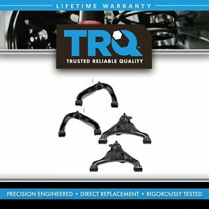 Trq 4 Piece Kit Upper Lower Control Arm Ball Joint Lh Rh For Nissan Truck Suv