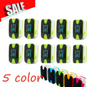 10x Finger Pulse Oximeter Oximetery Blood Oxygen Monitor Audio Alarm Green A
