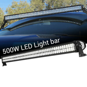 30inch 180w Led Work Light Bar Curved Flood Spot Beam For Jeep Ford Offroad Suv