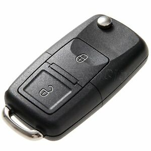 2 Buttons Flip Keyless Entry Lock Remote Car Key Case Shell Fob For