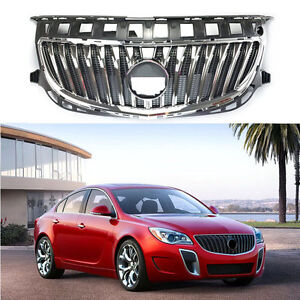 For Buick Regal Gs 2014 2016 Front Radiator Grille Abs Chrome Paint Trim New