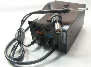 Yihua 968db smd smt Hot Air 3 In1 Repair rework Station With Smoke Absober 220v