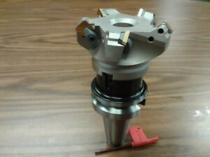 3 45 Degree Indexable Face Shell Mill W Bt40 Arbor face Milling Cutter new