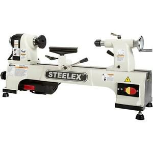 Steelex Machinery Series By Shop Fox St1008x 10 X 15 Wood Lathe W Bed Ext