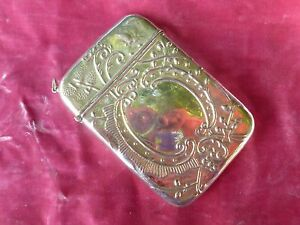 Vintage Exaggerated Large Sterling Silver Card Case 2 8 Troy Oz