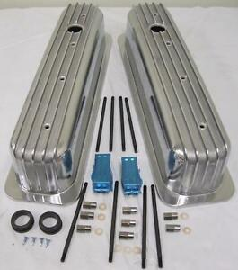 Sbc Vortec Tbi Retro Finned Chevy 350 Tall Aluminum Valve Covers Center Bolt