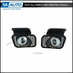 Upgrade Clear Lens Halo Projector Fog Lamp Light Pair For Silverado Avalanche