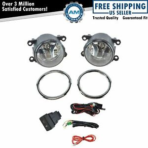 Add On Upgrade Clear Lens Fog Light Bulb Switch Wiring Kit Set For Honda Pilot
