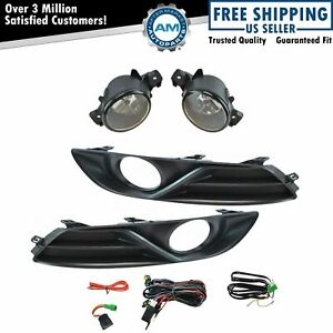 Add On Upgrade Clear Lens Fog Light Bulb Switch Wiring Kit Set For Sentra New