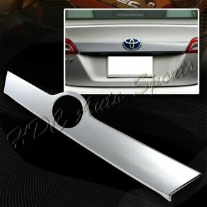 For 2012 2014 Toyota Camry Mirror Chrome Abs Rear Trunk Streamer Cover Trim