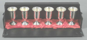 Set Of 6 Towle Sterling Silver Cordial Cups Marked Original Box 28g Ea 3 Tall
