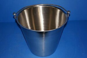 Vollrath 58130 Stainless Steel Tapered Dairy Pail 12 1 2 quart