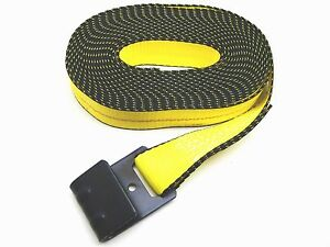 10 Winch Straps 2 X 30 Fh Flat Hook For Ratchet Tie Down Flatbed Truck Trailer