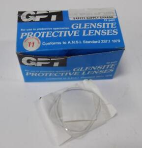 Glensite 10 Pair Of Clear Protective Lenses 1625 357l001 Clr 42293 Nib pzb