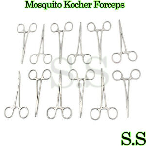 Set Of 12 Pieces Mosquito Kocher Locking Hemostat Forceps 5 Cvd str 1x2t