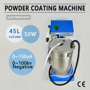 Powder Coating System With Spraying Gun Wx 958 Electrostatic Machine 110 220v