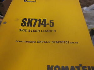 Komatsu Sk714 5 Skid Steer Loader Operation Maintenance Manual 2004