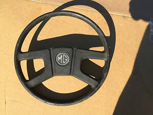 Mgb Original Factory Steering Wheel 1977 1980 With Emblem Good Condition