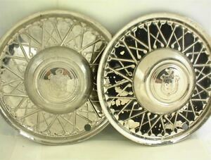 Vintage Lyon Wire Wheel Type Hubcaps Wheel Cover 15