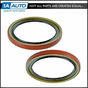 Front Driver Passenger Side Wheel Seal Pair For Chevy Buick Gmc