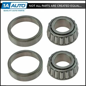 Front Driver Passenger Outer Wheel Bearing Pair For Buick Chevy Gmc Pontiac