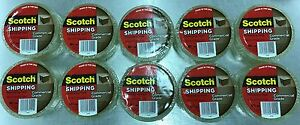 10 Rolls Scotch Commercial Grade Clear Heavy duty Packaging Tape 54 6 Yards