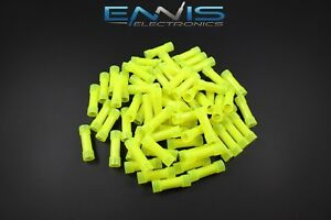10 12 Gauge Nylon Butt Connector 500 Pk Crimp Terminal Yellow Awg Ga Car Suv