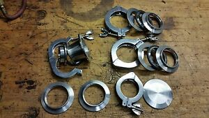 Kf Vacuum Pipe Weld Ferrule Reducer Cap Clamp Gasket Set Lot