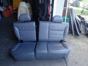 2001 2004 Ford Escape Rear 60 40 Seat Leather Graphite Gray Oem